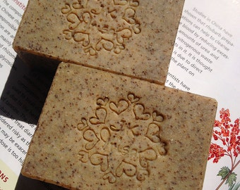 Natural COFFEE handmade scrub soaps, exfoliating soap, organic and vegan handmade soap, best cold process soap, all natural homemade soap