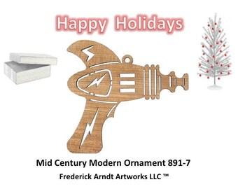 891-7 Mid Century Modern Christmas Ornament
