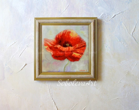 Red poppy painting red poppies hand painted ceramic tile wall art red poppy painting red poppies hand painted ceramic tile wall art poppy watercolor flowers red home decor floral aquarelle red poppy art from sobolevaart on ppazfo