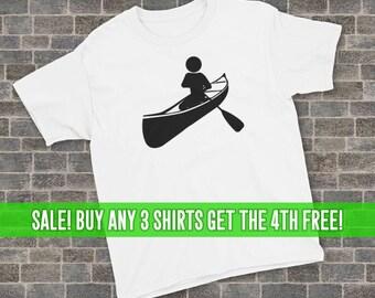 Canoeing T-Shirt, Canoe Shirt, Unisex T-Shirt, Youth Canoeing Shirt, Youth Canoeing T-Shirt