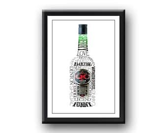 Personalised 'Sherry Love' Word art / Typography Print