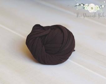 Newborn Jersey Wrap, Newborn Stretch Wrap, Photography Prop, Newborn Photo Prop, Chocolate Wrap, Brown Wrap, Jersey Knit Wrap Prop Neutral