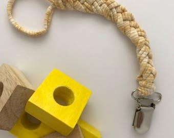 Braided Cotton Pacifier Clip Dreamcile // Braided Pacifier Clip // Paci Clip // Binky Clip // Baby Shower Gift // Newborn Gift
