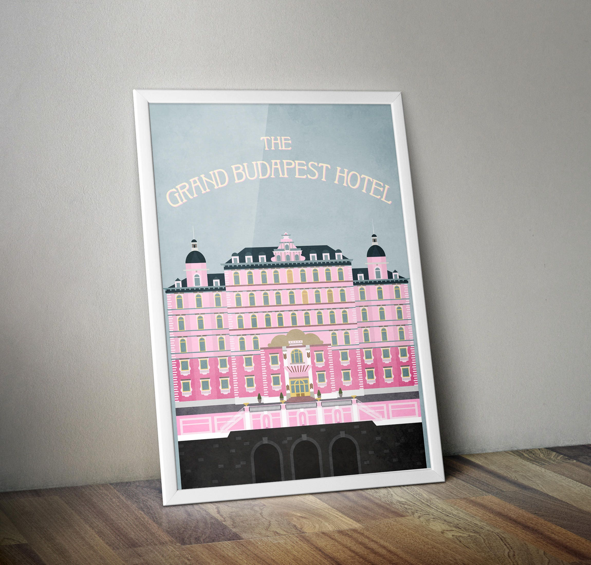Grand Budapest Hotel Quotes The Grand Budapest Hotel Movie Poster Minimalist Film Print