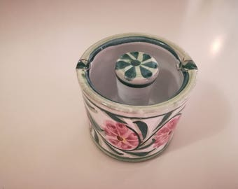Pottery Floral  Ashtray