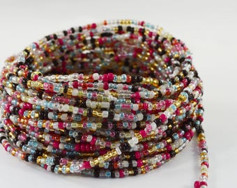 African Waist Beads, Waist Beads, mixed color African Waist Beads No2