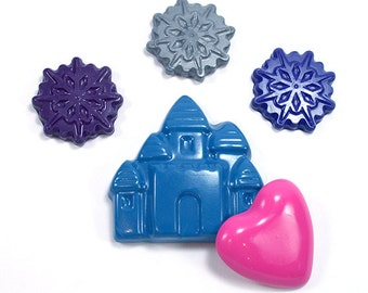 Snow Princess Castle and Snowflake crayon set by Scribblers Crayons