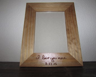 Your Handwriting Laser Engraved, 5x7 Frame, Personalized Engraved Frame, Custom 5x7, Wedding Frame