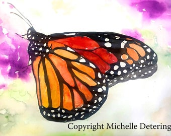 Butterfly Watercolor - Watercolor Print, Monarch, Monarch Art, Butterfly, Butterfly Art, Nature, Monarch Watercolor, Butterfly Watercolor