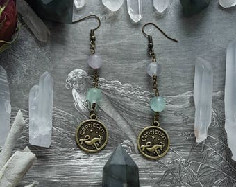 Perfect Harmony Capricorn Gemstone Earrings
