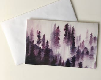 Foggy Forest - Greeting Card (set of five)