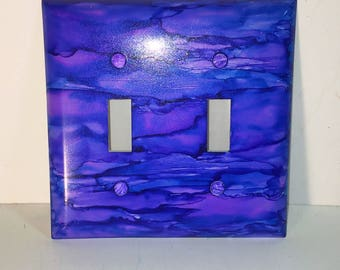 Double Switchplate, Painted Switchplate, Switchplate, Painted Decor, Home Decor, Light Switch