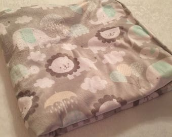 Lion and Elephant Baby Blanket