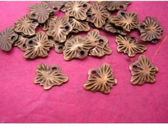 100pc antique bronze metal mini butterfly charm-1066