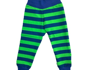 Seattle Seahawks Stripe Jogger Pants Sizes 0-3 3-6 6-9 9-12 12-18 18-24 2T 3T 4T 5T 6 ~Two Chicks~