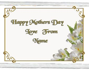 Mother's Day Acrylic Fridge Magnet Number 5