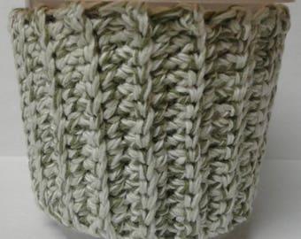 Green & White Twist Ice Cream Sweater Cozy