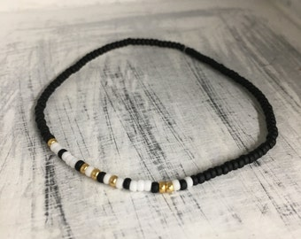 Workout, Morse Code Stretchy Bead Bracelet - Pick your color