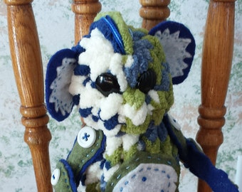 Moss Monkey - plush, handmade, OOAK