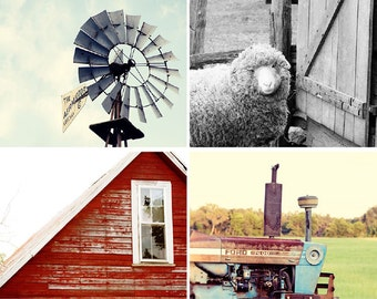 red rustic home decor, rustic photography collection, animal decor, windmill, farmhouse cottage decor, rustic art, tractor barn photo no 1