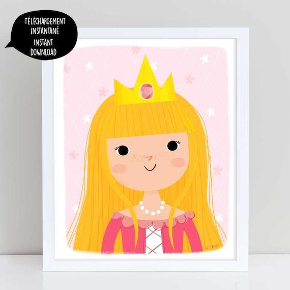 Princess princess illustration princess poster pink