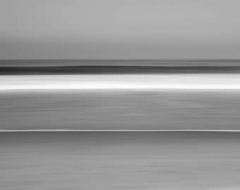 Seascape, long-exposure, minimalist black and white photography, limited edition print, abstract fine art photography, large print, Strand