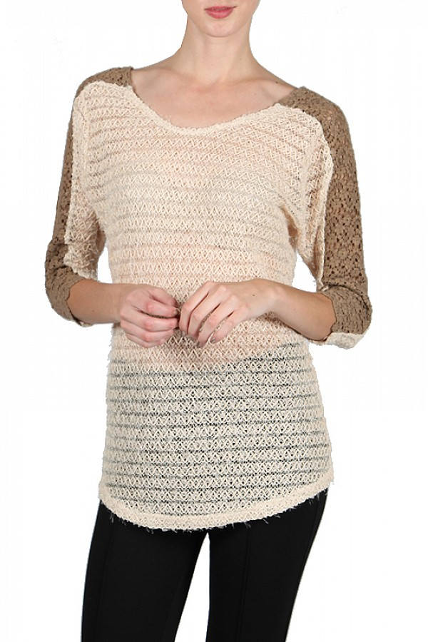 Light Sweater Lace Sweater Sweaters For Women 34 Sleeve Sweaters