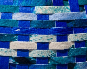 Fluid Blue and Turquoise - Cathead Baskets Paper Choices