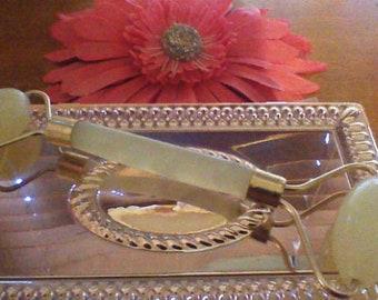 Cool as Cucumber! Asian Jade Facial Massage Roller 2 Size or Gua Sha Blade Tool Soothing, Rejuvenates  DIY facial