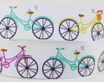 """Bicycle Grosgrain 7/8"""" Printed Ribbon"""