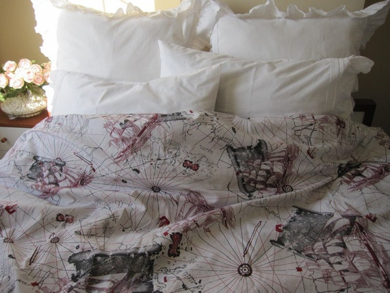 World map print duvet cover twin xl full queen oversized super gumiabroncs Choice Image