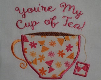 You're My Cup of Tea Kitchen Towel with Pocket Cup