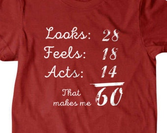 60th birthday gift, 60th T-shirt, Great gifts for granpa, Husband 60th Funny T shirt, gifts for dad,  shirt, boyfriend, husband