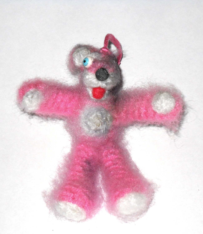 mini breaking bad pink teddy bear amigurumi crochet doll and. Black Bedroom Furniture Sets. Home Design Ideas