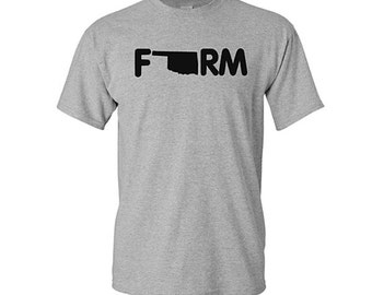 Farm Oklahoma Shirt, Oklahoma Shirt, Farming Shirt, Farming gifts, gifts for farmers