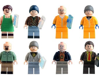 Breaking Bad Lego Compatible Set of 8