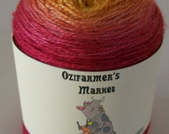 Silky Merino Lace Cuties - 50gm gradient dyed laceweight silk/wool blend yarn. Sunburnt Country