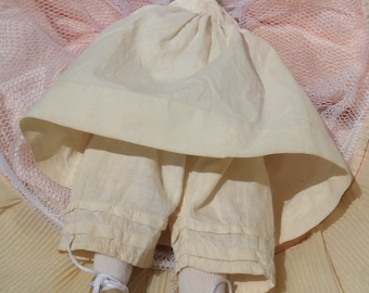Doll Petticoat and Bloomers, Doll Cotton Pantaloons and Petticoat
