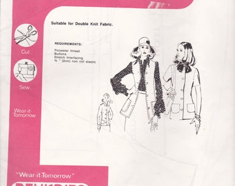 1970s Sewing Pattern - BevKnits 2600 Ladies Jacket  Size 8 - 20 Factory folded and complete