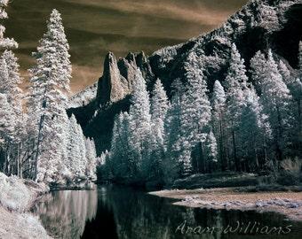 Sentinel Rock - Infrared Photograph - 8.5 x 11