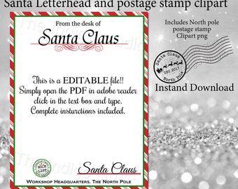 Santa letterhead clip art 1 clip art vector site letters from santa etsy rh etsy com desk of santa clip art from the desk of santa clip art spiritdancerdesigns Choice Image