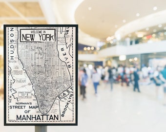 """City poster-New York """"Welcome in New York""""-Illustration/typography/lettering"""