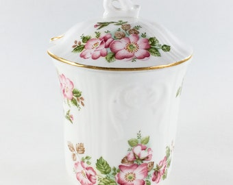 Royal Grafton Preserve Jam Honey Pot Jacobean Wild Rose