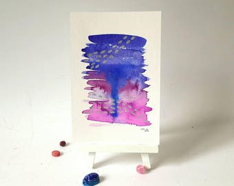 Wand-Dekor, moderne abstrakte Kunst, Aquarell, abstrakte Aquarell, Silber Aquarell Kunst, original-Artworks, Schreibtisch Dekor