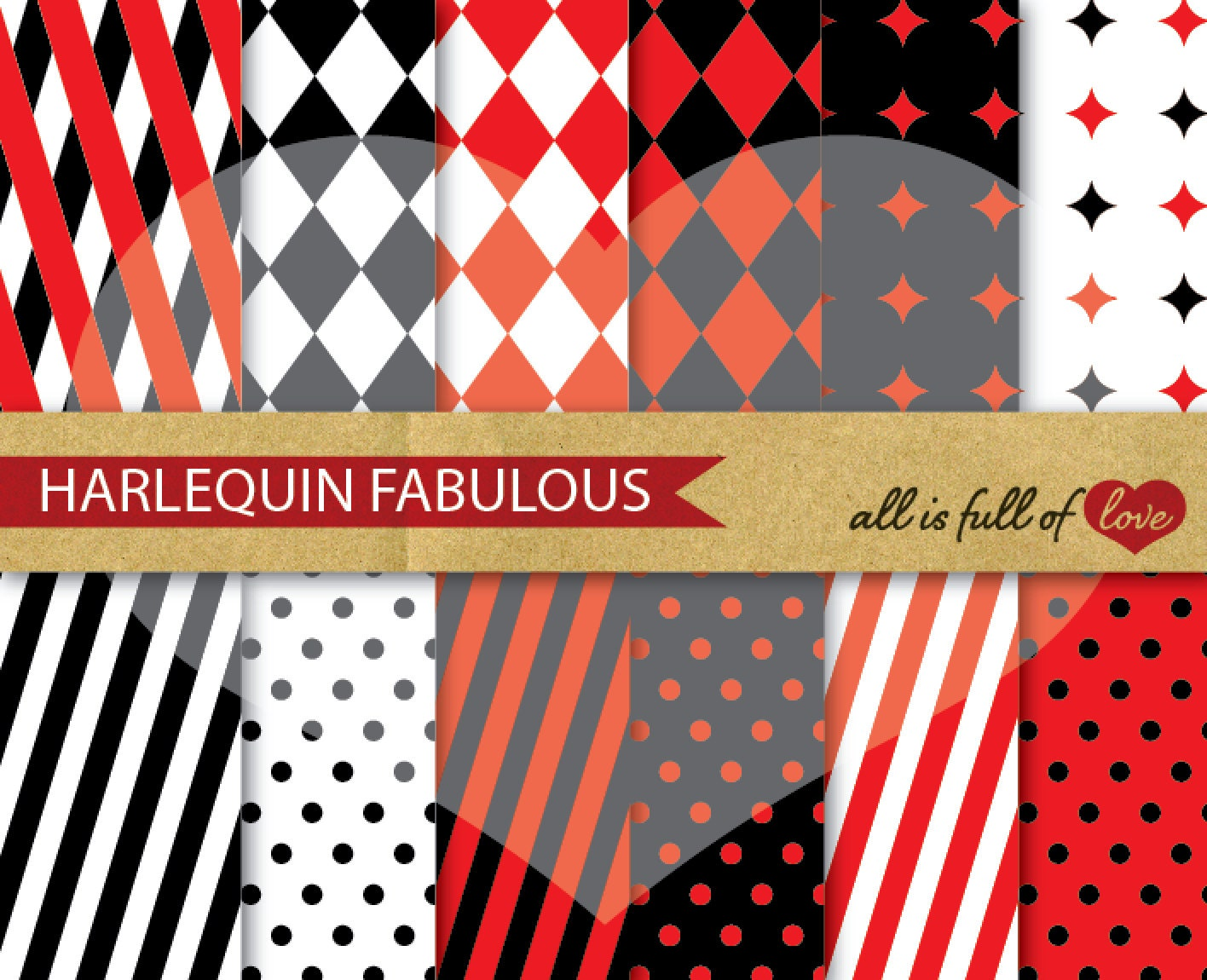Harley Quinn Pattern Unique Design Ideas