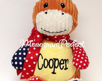 Personalized, Monogrammed Patchwork Horse Stuffed Animal