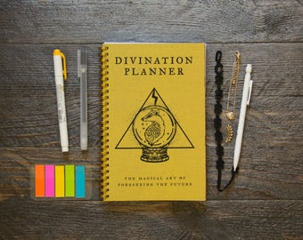 Medium Weekly Planner (180-Pages) | 12 Months | Yellow Divination Planner