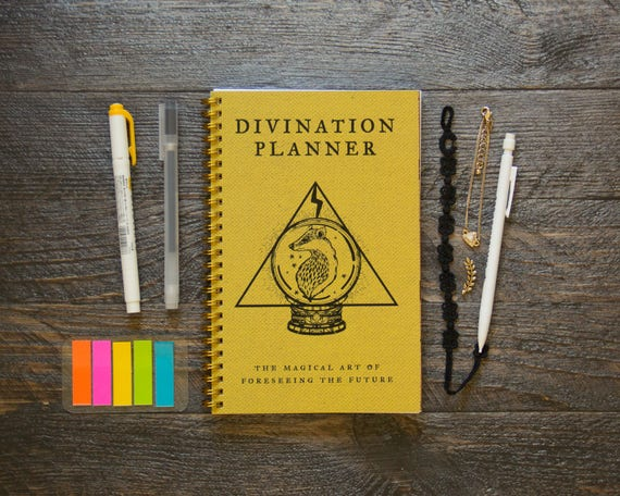 Medium Weekly Planner (180 Pages) | 12 Months | Yellow Divination Planner by Etsy