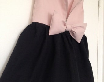 Powder Pink and black cotton ceremonial dress size 5T