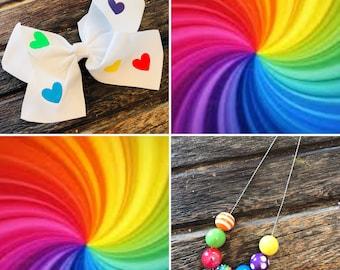 Pride Bow & Necklace
